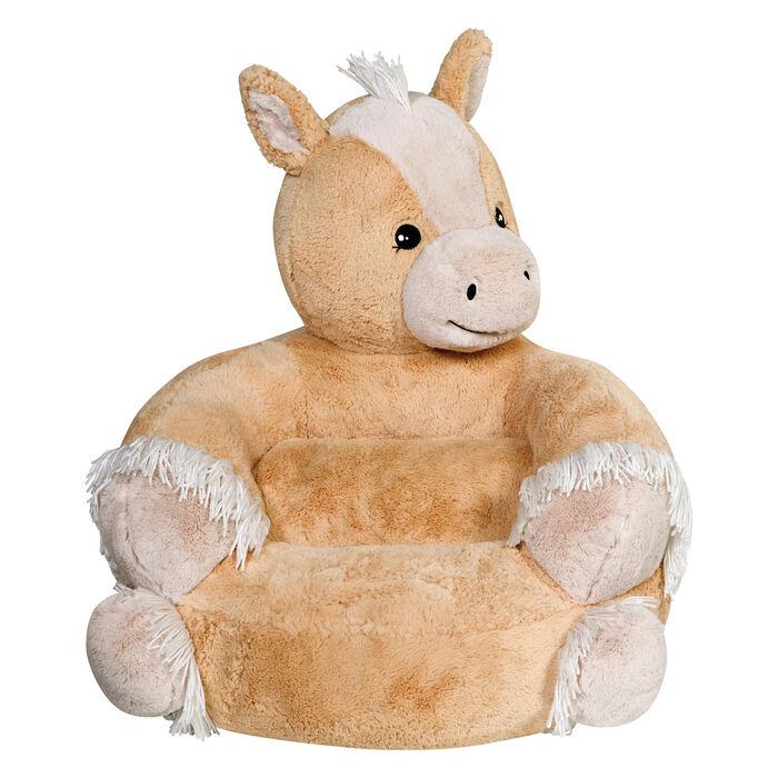 Children's Plush Pony Chair, , default