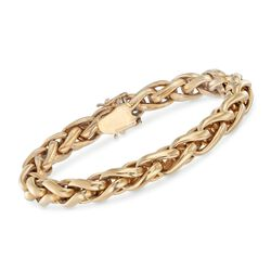 "Italian 18kt Yellow Gold Braided Link Bracelet. 7.5"", , default"