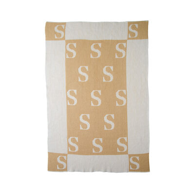 Child's Butterscotch Blankees Personalized Initials and Blocks Blanket, , default