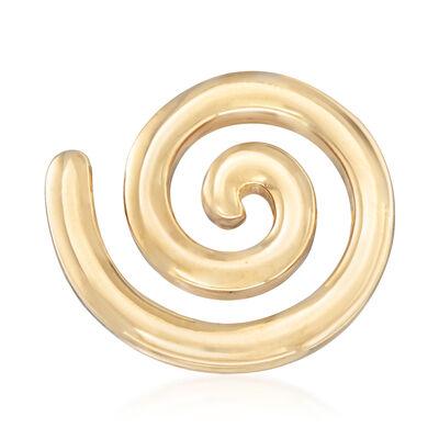 Italian 18kt Yellow Gold Spiral Pin, , default