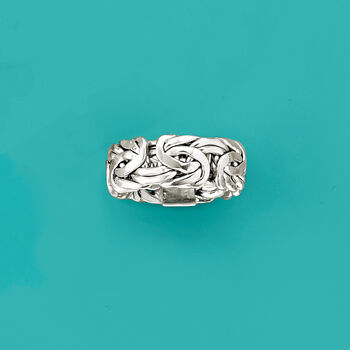 Sterling Silver Large Byzantine Ring, , default
