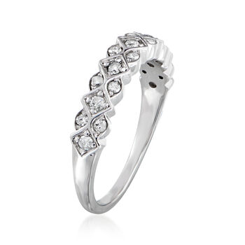 .33 ct. t.w. Diamond Marquise and Diamond-Shaped Ring in Sterling Silver, , default