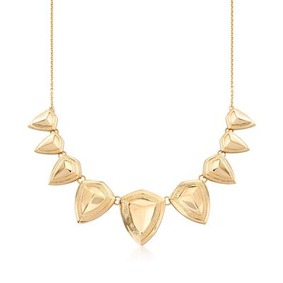 Italian 18kt Yellow Gold Over Sterling Geometric Necklace , , default