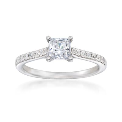 .27 ct. t.w. Diamond Engagement Ring Setting in 14kt White Gold, , default