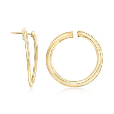 Italian 14kt Yellow Gold Flex Hoop Earrings. , , default
