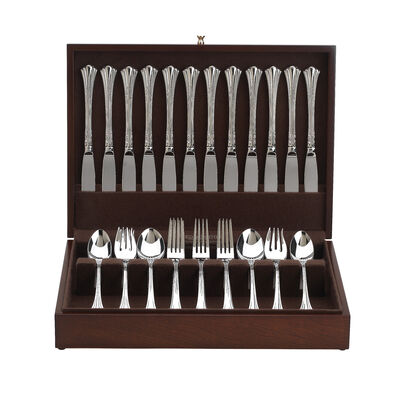 "Reed & Barton ""Somerset"" Mahogany Flatware Chest, , default"