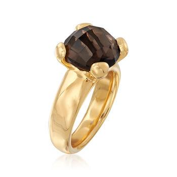 Italian Andiamo 14kt Yellow Gold with 1.00 ct. t.w. Smoky Quartz Ring, , default