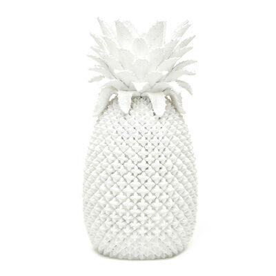 White Porcelain Decorative Pineapple Vase, , default