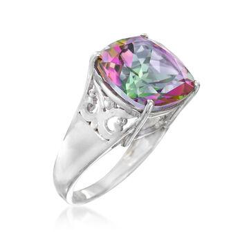 9.75 Carat Multicolored Quartz Ring in Sterling Silver, , default