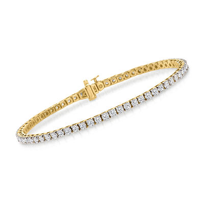 4.00 ct. t.w. Diamond Tennis Bracelet in 14kt Yellow Gold