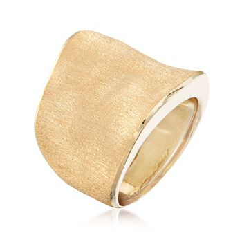 Italian 14kt Yellow Gold Free-Form Ring, , default