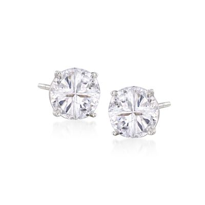 4.00 ct. t.w. CZ Stud Earrings in Sterling Silver