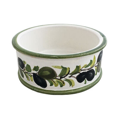 """Abbiamo Tutto """"Classic Olive"""" Ceramic Pet Bowl from Italy, , default"""