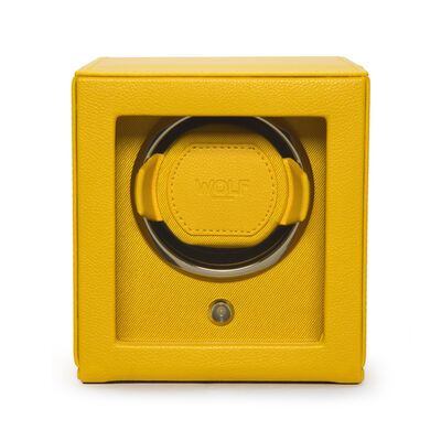 "Wolf ""Cub"" Yellow Leather Watch Winder, , default"