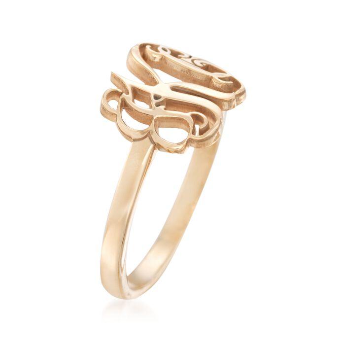 14kt Yellow Gold Monogram Ring