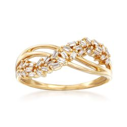 .20 ct. t.w. Diamond Crossover Ring in 14kt Yellow Gold, , default