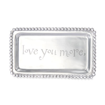 "Mariposa ""Love You More"" Beaded Tray, , default"