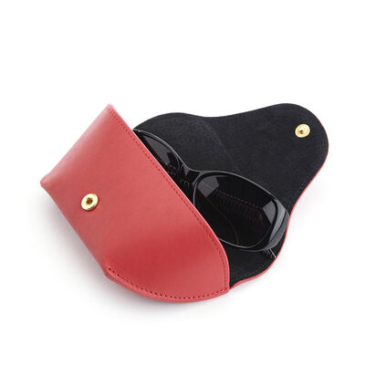 Royce Red Leather Sunglasses Case
