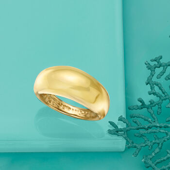 Italian 14kt Yellow Gold Shiny Dome Ring