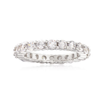 2.00 ct. t.w. CZ Eternity Band in Sterling Silver, , default
