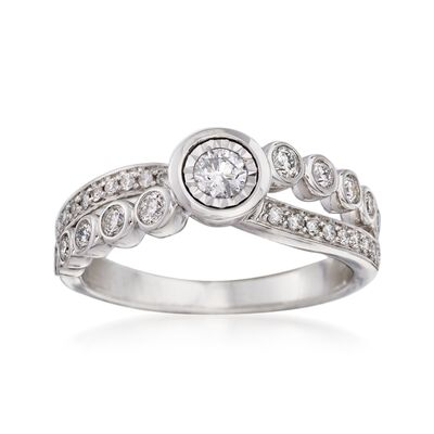 .50 ct. t.w. Diamond Crisscross Ring in 14kt White Gold