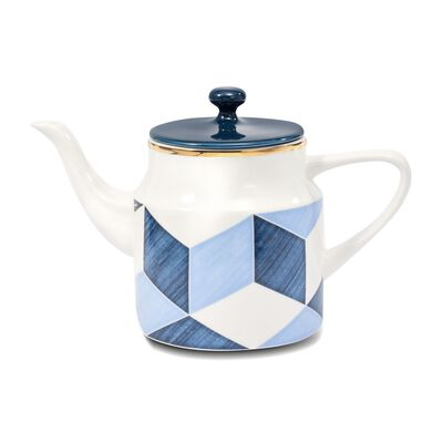 "Lenox and Luca Andrisani ""Blue Azzurro"" Porcelain Color Block Teapot, , default"