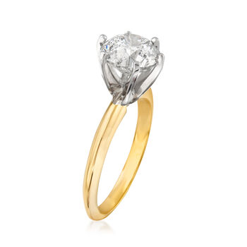 3.06 Carat Diamond Solitaire Ring in 14kt Yellow Gold, , default