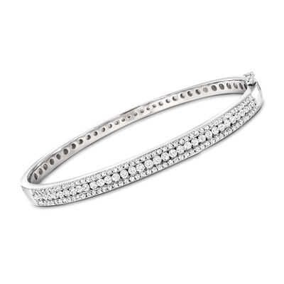 2.00 ct. t.w. Diamond Bangle Bracelet in Sterling Silver