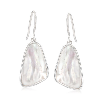 Mother-Of-Pearl Drop Earrings in Sterling Silver, , default