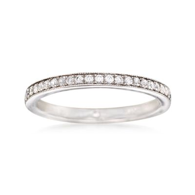 Gabriel Designs .24 ct. t.w. Diamond Wedding Ring in 14kt White Gold, , default