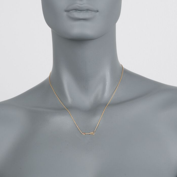 "Roberto Coin 18kt Yellow Gold Arrow Necklace. 16.5"", , default"