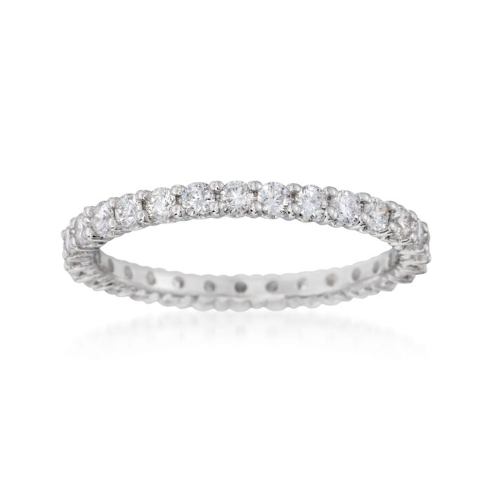 1.00 ct. t.w. Diamond Eternity Band in 14kt White Gold. Size 7, , default