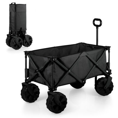 Black Adventure All-Terrain Portable Utility Wagon