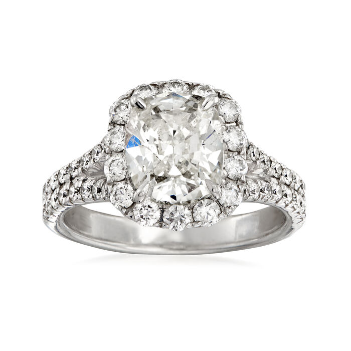 Henri Daussi 3.15 ct. t.w. Diamond Engagement Ring in 18kt White Gold