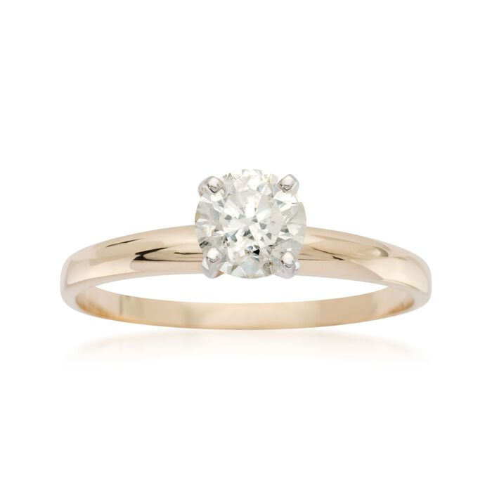 .75 Carat Diamond Solitaire Ring in 14kt Yellow Gold, , default