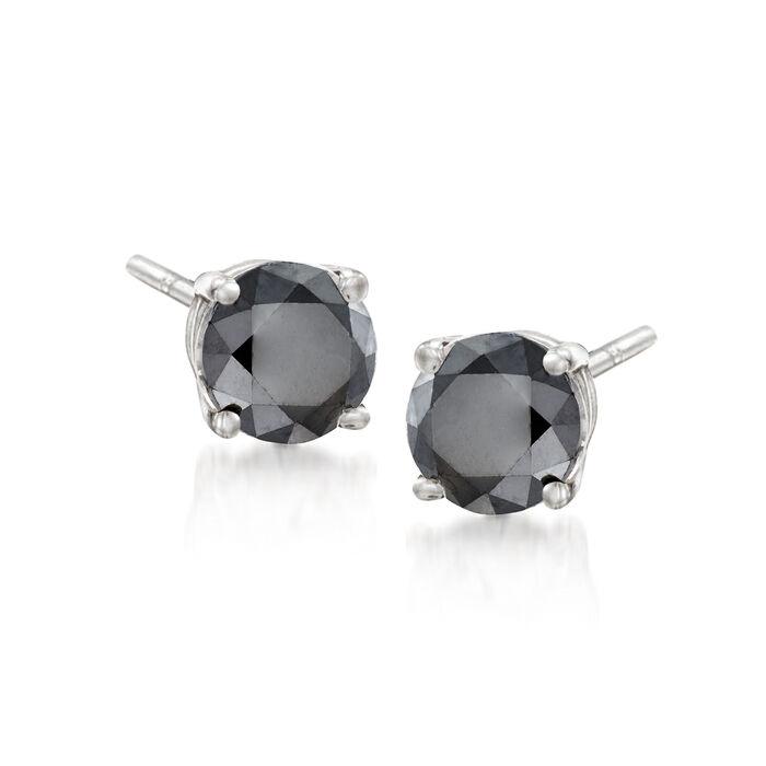 2.00 ct. t.w. Black Diamond Stud Earrings in Sterling Silver, , default