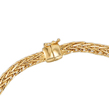18kt Yellow Gold Wheat-Link Necklace with Magnetic Clasp, , default