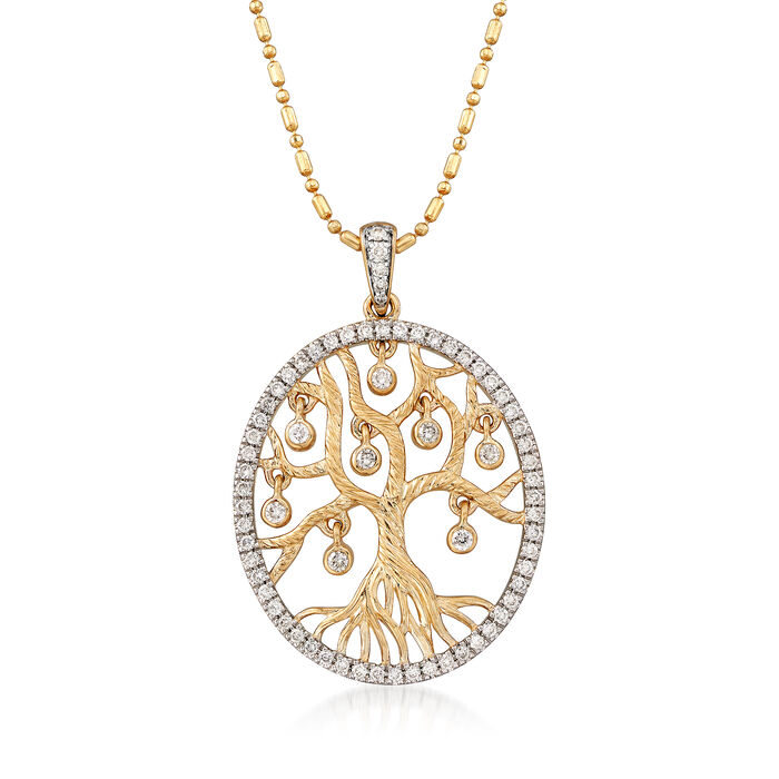 .48 ct. t.w. Diamond Tree of Life Pendant Necklace in 14kt Yellow Gold