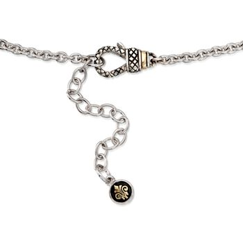 """Andrea Candela .19 ct. t.w. Diamond Necklace in 18kt Yellow Gold and Sterling Silver. 18"""""""