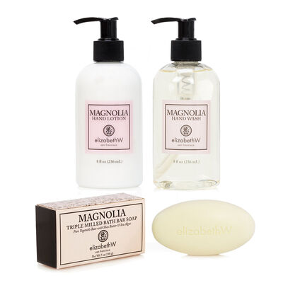 Magnolia Hand Wash, Lotion and Soap Bar Set