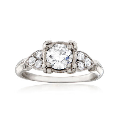 C. 1950 Vintage .90 ct. t.w. Diamond Ring in Platinum