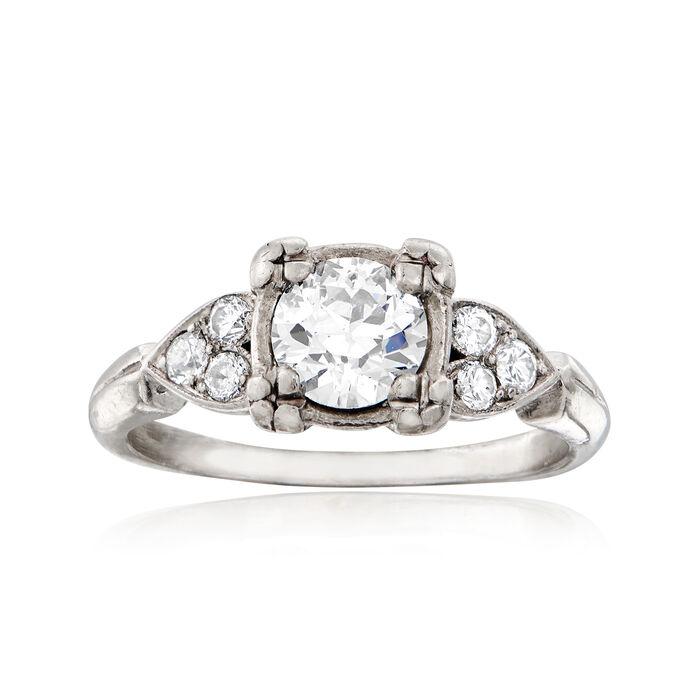 C. 1950 Vintage .90 ct. t.w. Diamond Ring in Platinum. Size 5.5