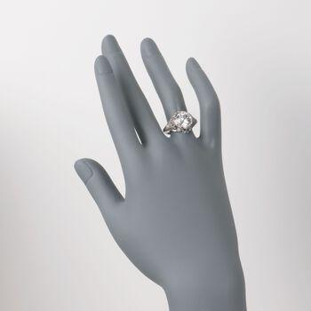 C. 1990 Vintage 3.40 ct. t.w. Certified Diamond Ring in Platinum. Size 7.5, , default