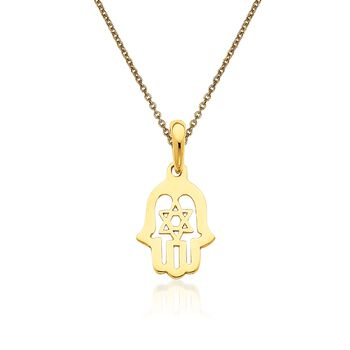 "14kt Yellow Gold Chamseh Pendant Necklace. 18"", , default"