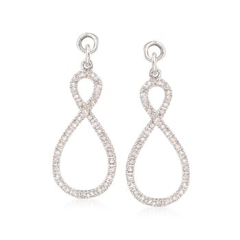 .25 ct. t.w. Diamond Abstract Infinity Earring Jackets in Sterling Silver, , default
