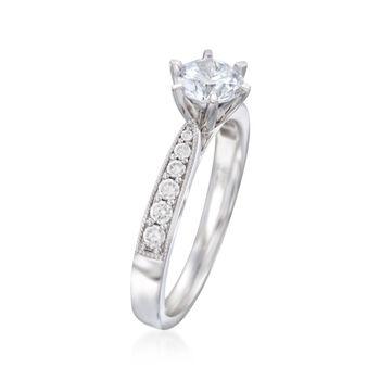 .22 ct. t.w. Diamond Milgrain Engagement Ring Setting in 14kt White Gold