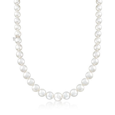 Mikimoto 9-12.8mm A+ South Sea Pearl Graduated Necklace in 18kt White Gold, , default