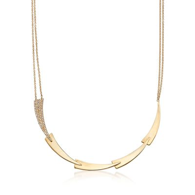 .27 ct. t.w. Diamond Geometric Necklace in 14kt Yellow Gold, , default