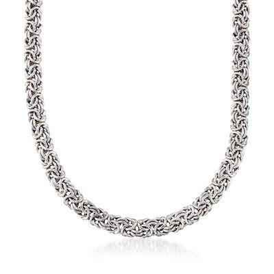 Sterling Silver Classic Byzantine Necklace