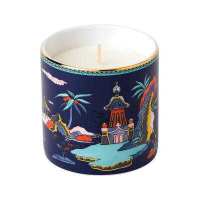 "Wedgwood ""Wonderlust"" Blue Pagoda Candle, , default"